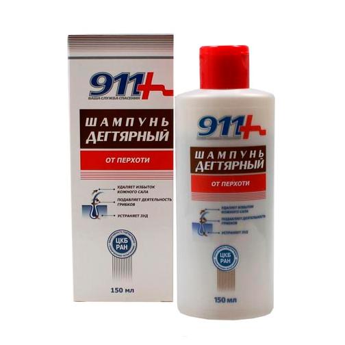 911 šampón proli lupinám a seboroickej dermatitíde s brezovým dechtom, 150 ml